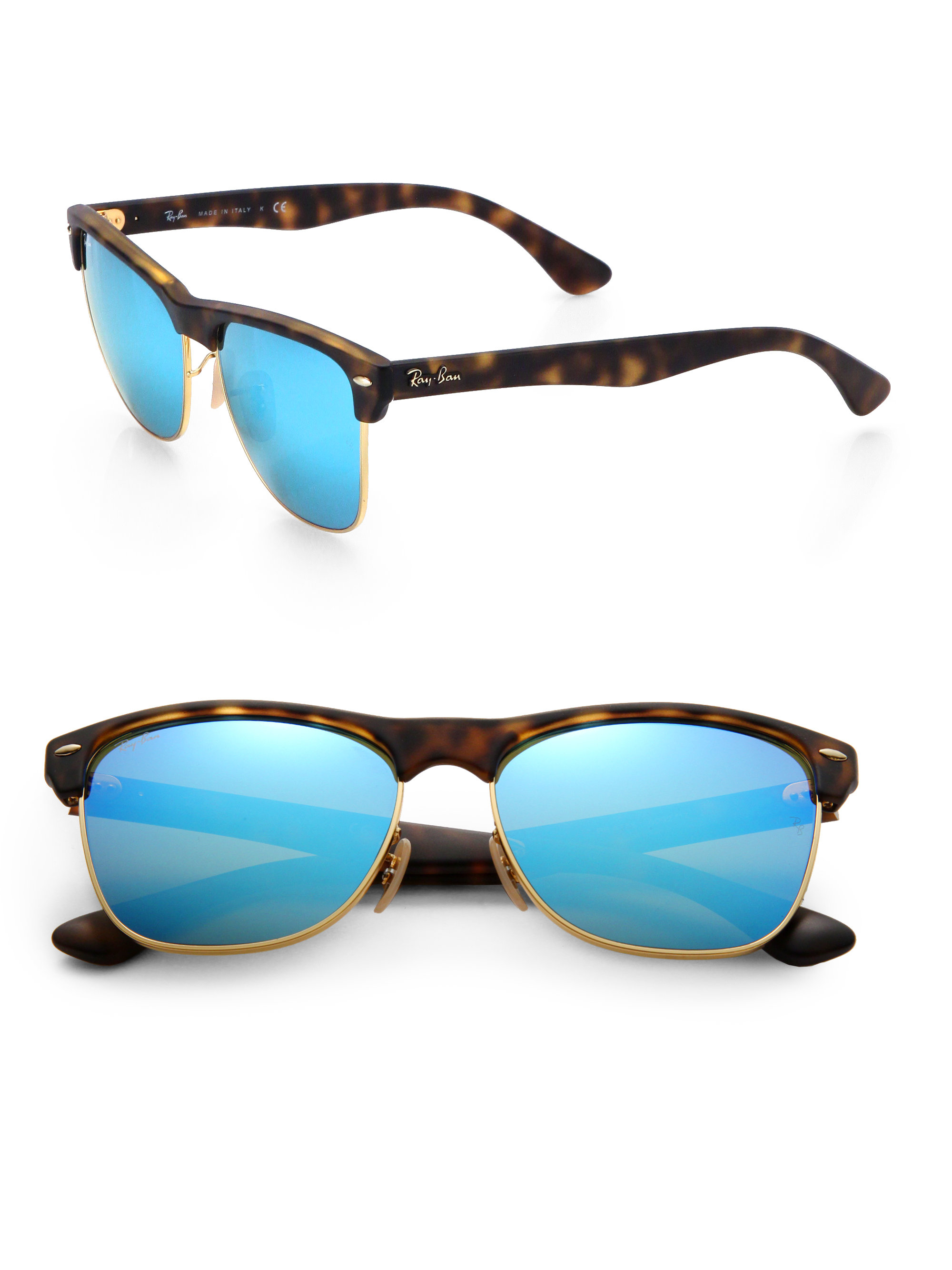 dcf44561b Gallery. Previously sold at: Saks Fifth Avenue · Men's Mirrored Sunglasses  Men's Ray Ban Clubmaster