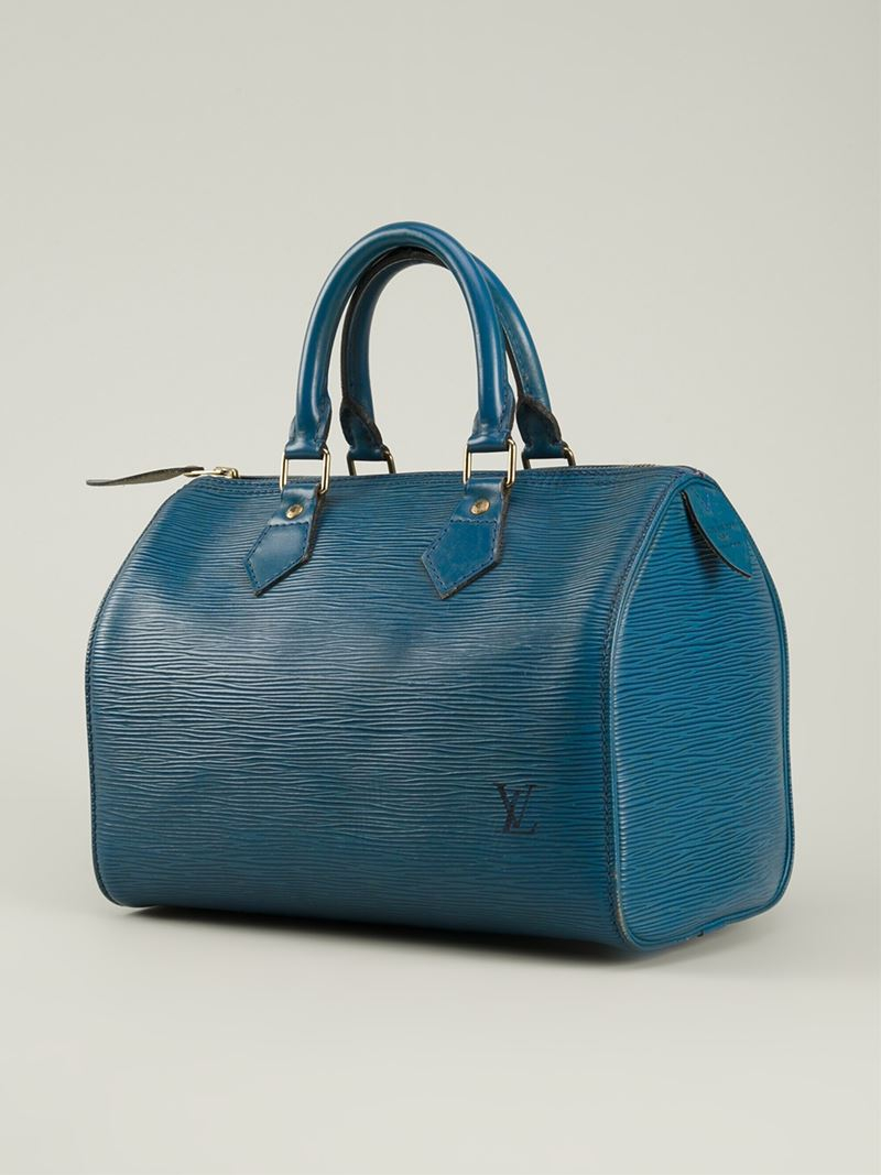 Lyst Louis Vuitton Speedy 25 Bag In Blue
