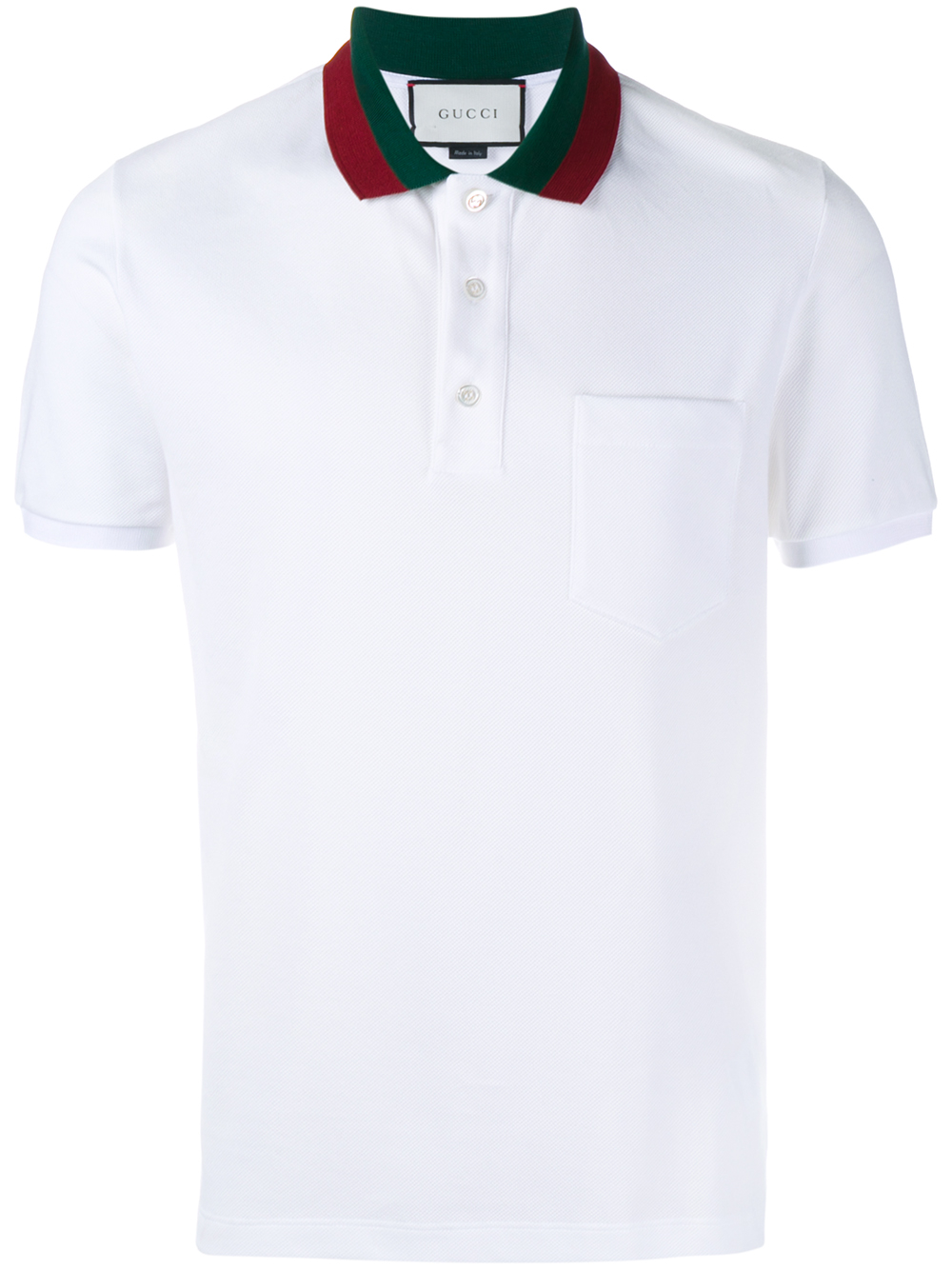 bae88667 Gucci Striped Collar Polo T-shirt in White for Men - Lyst