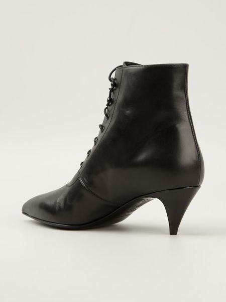 Saint Laurent Heeled Ankle Boots in Black