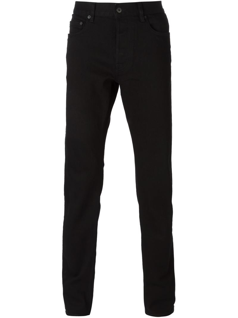 Stone island Straight Leg Jeans in Black for Men - Lyst