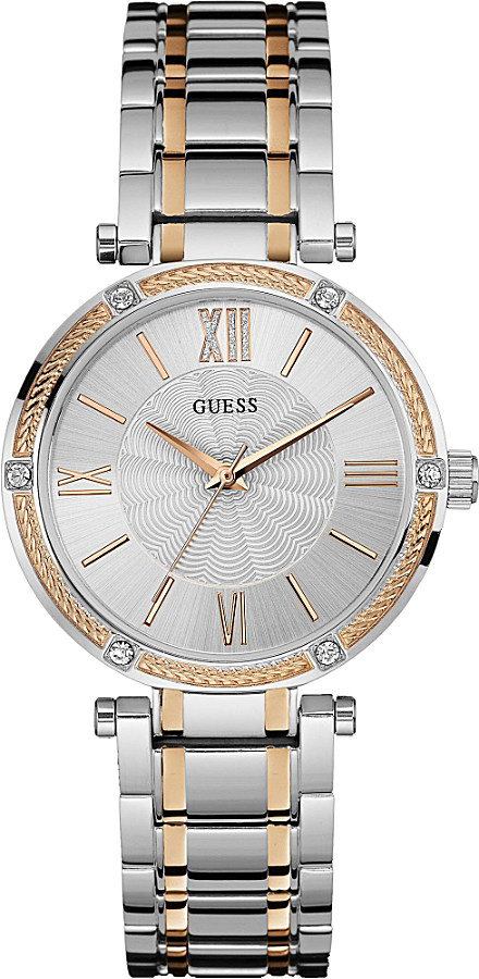 Guess | W0636l1 Park Ave Stainless Steel And Rose Gold ...