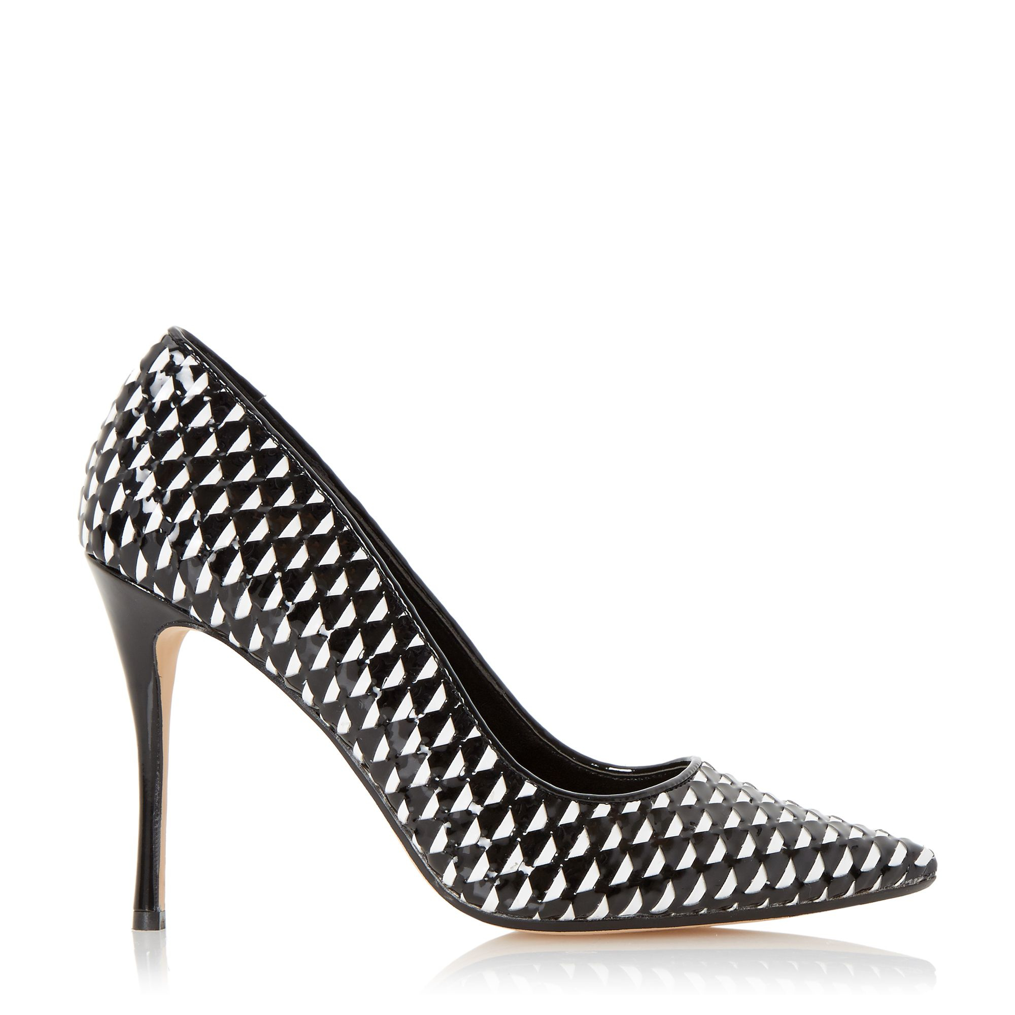 dune brooklyne stiletto court shoes in white lyst