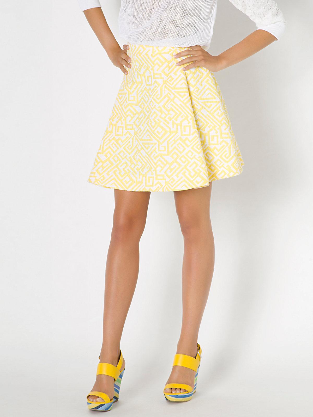 Patrizia pepe High-waisted Corolla Skirt In Cotton Mix ...