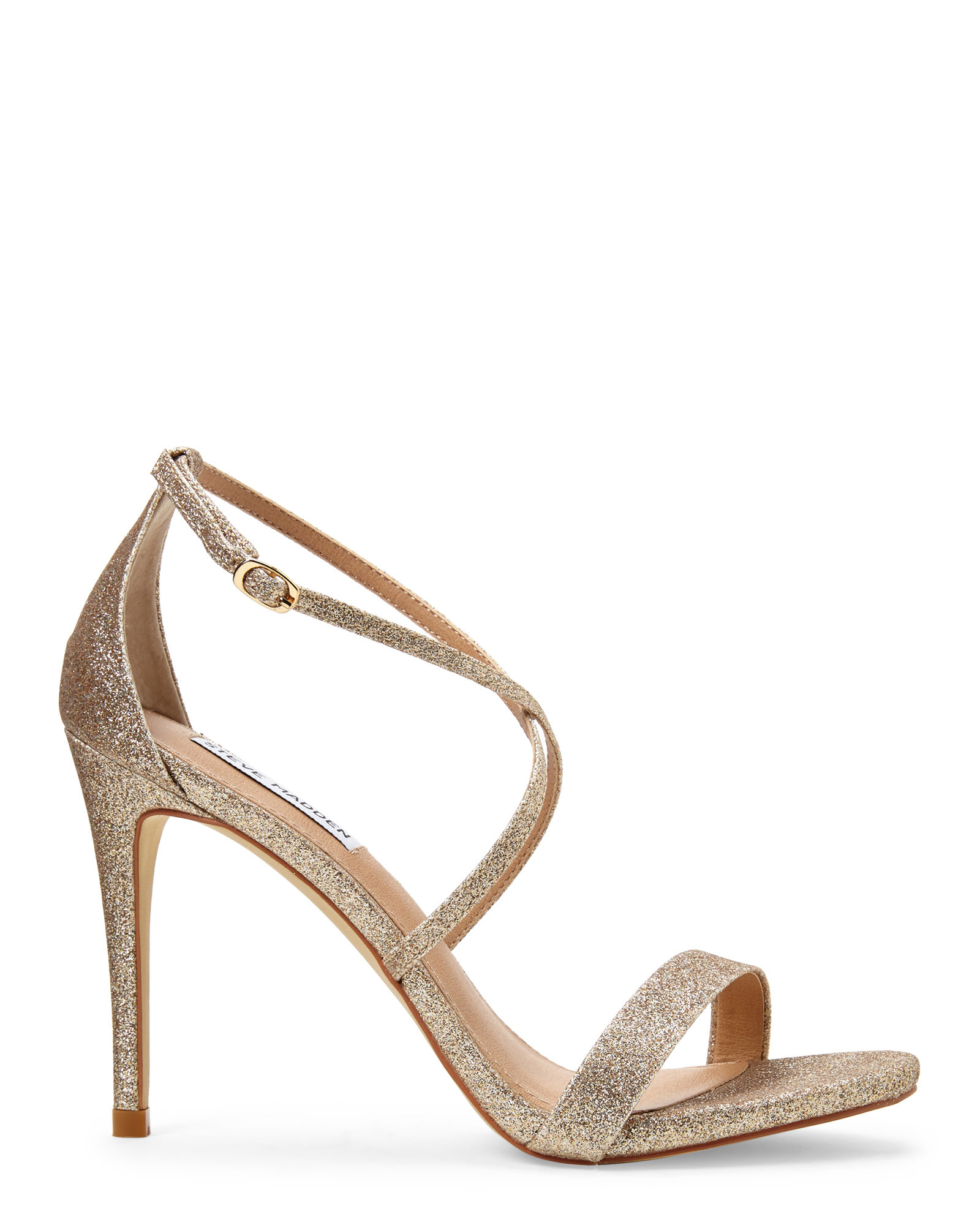 Steve madden Gold Feliz Strappy Sandals in Metallic | Lyst