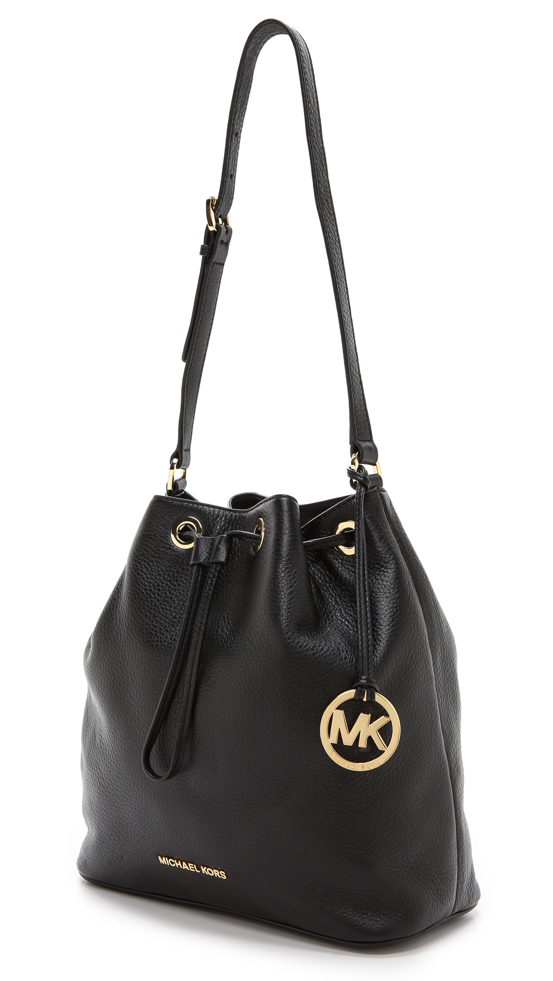 26d309c766e4 MICHAEL Michael Kors Jules Large Drawstring Bucket Bag Luggage in ...