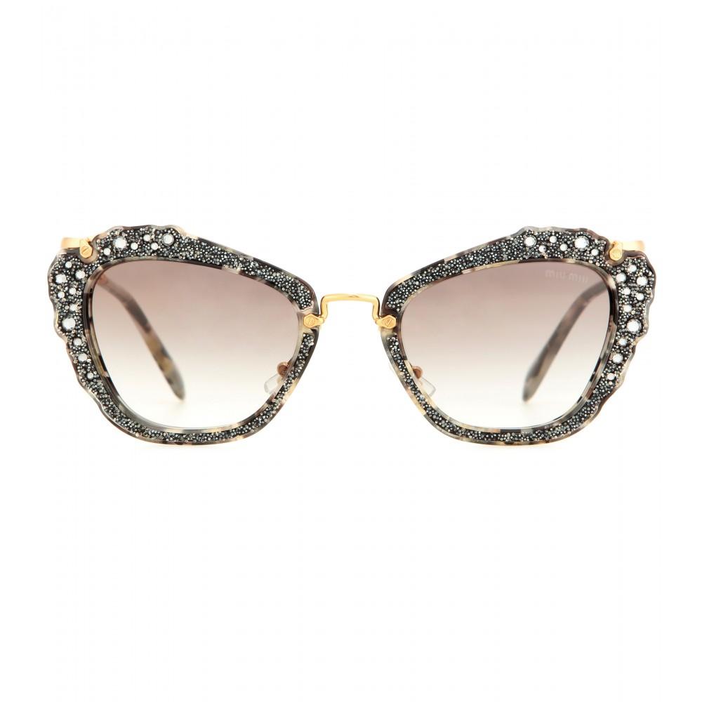 Crystal cat-eye sunglasses Miu Miu oRb500a