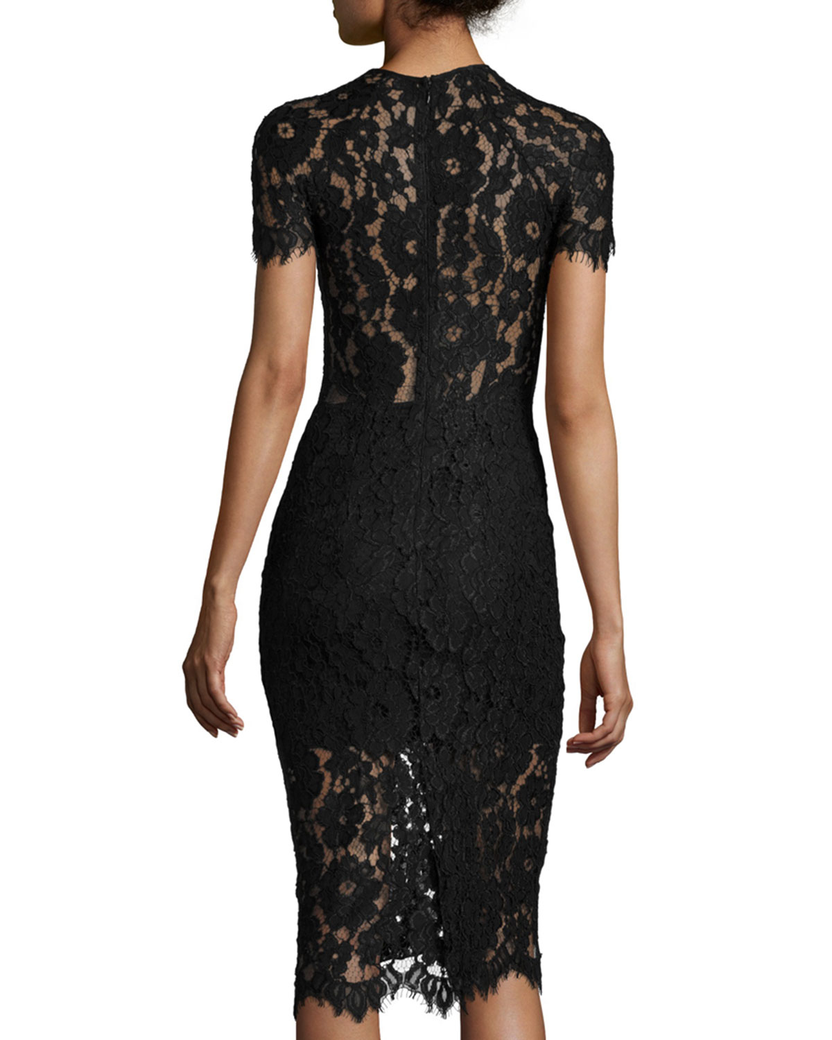 Women's Black Lace Cocktail Dresses