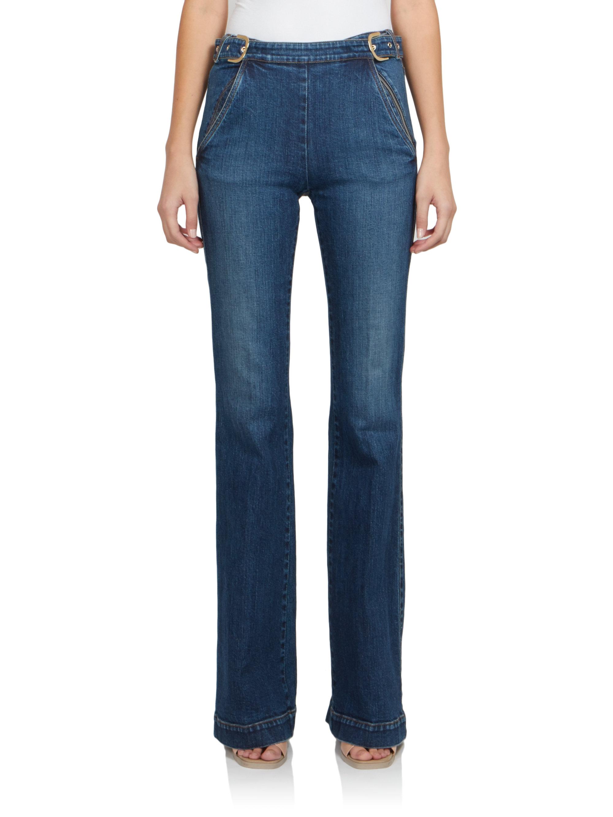 Stella mccartney High-waist Flared Jeans in Blue | Lyst