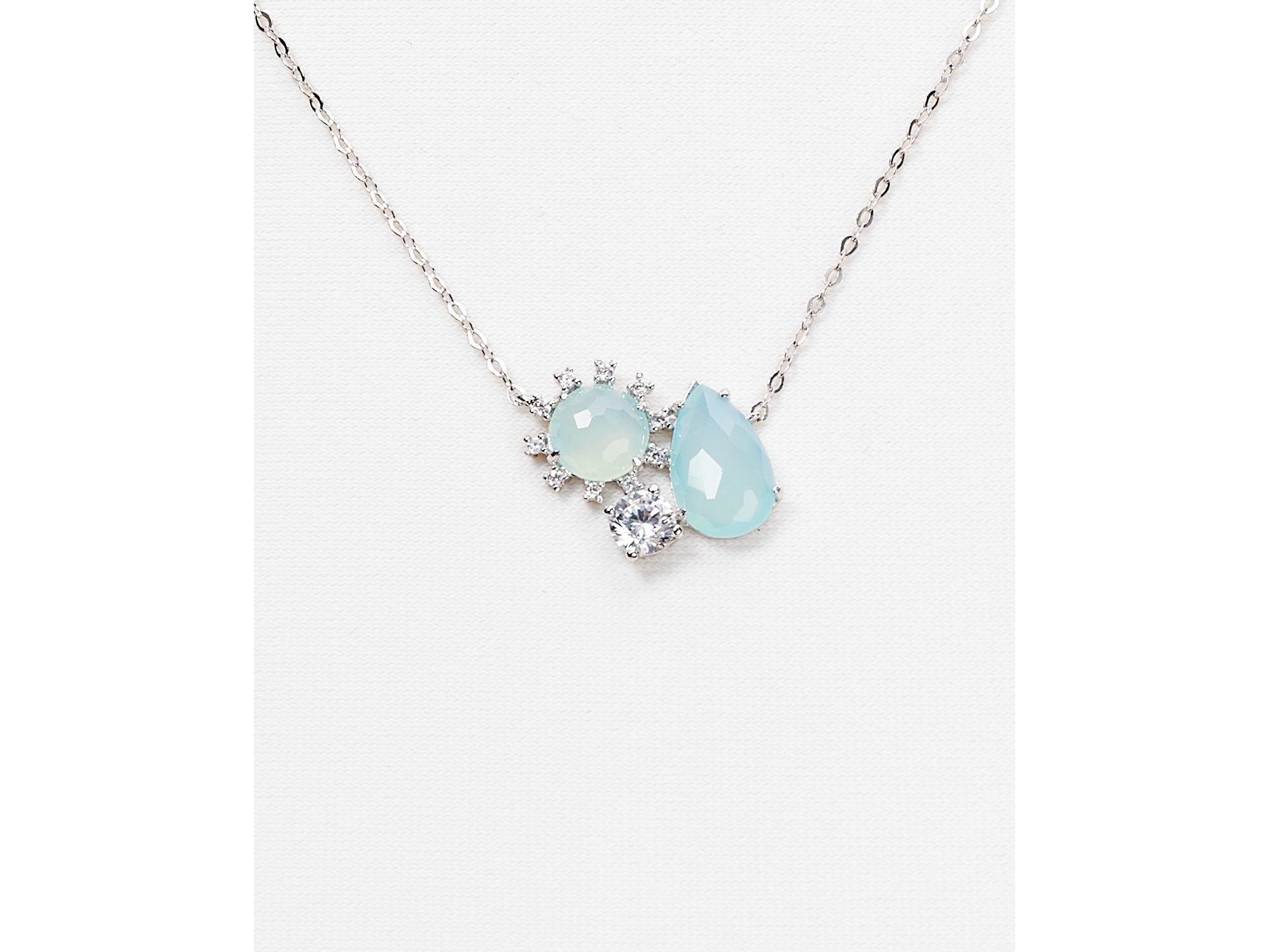 Lyst nadri lashout chalcedony cluster pendant necklace 16 gallery aloadofball Image collections