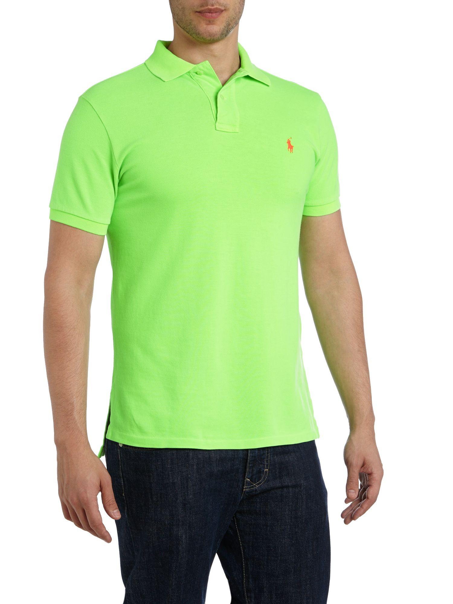 Polo Ralph Lauren Neon Polo Shirt In Green For Men Lyst