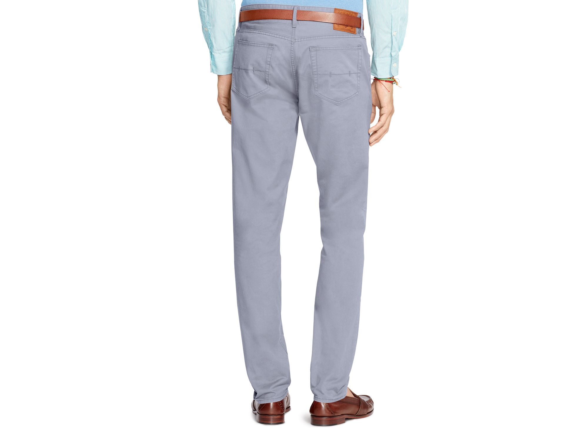 Lyst - Ralph Lauren Polo Classic-fit Stretch Chino Pants in Blue for Men a04041bf198