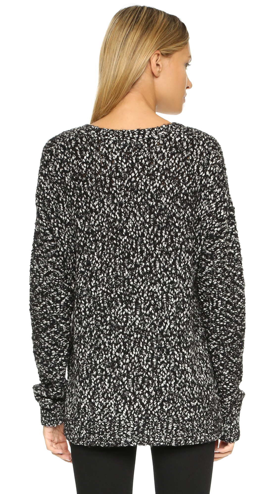 Lyst Vince Marled Sweater Black In Black