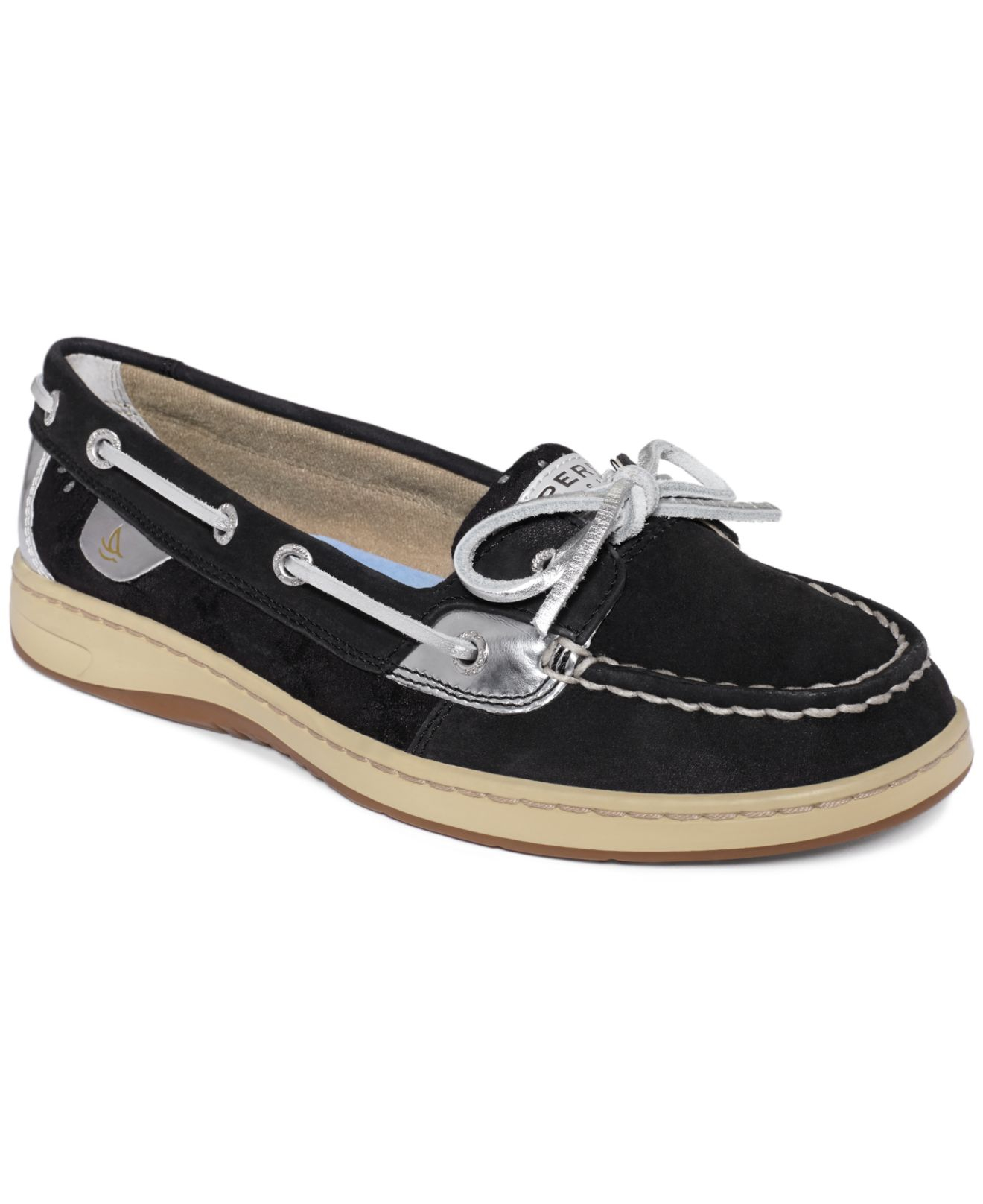 Sperry top-sider Women'S Angelfish Boat Shoes in Black | Lyst