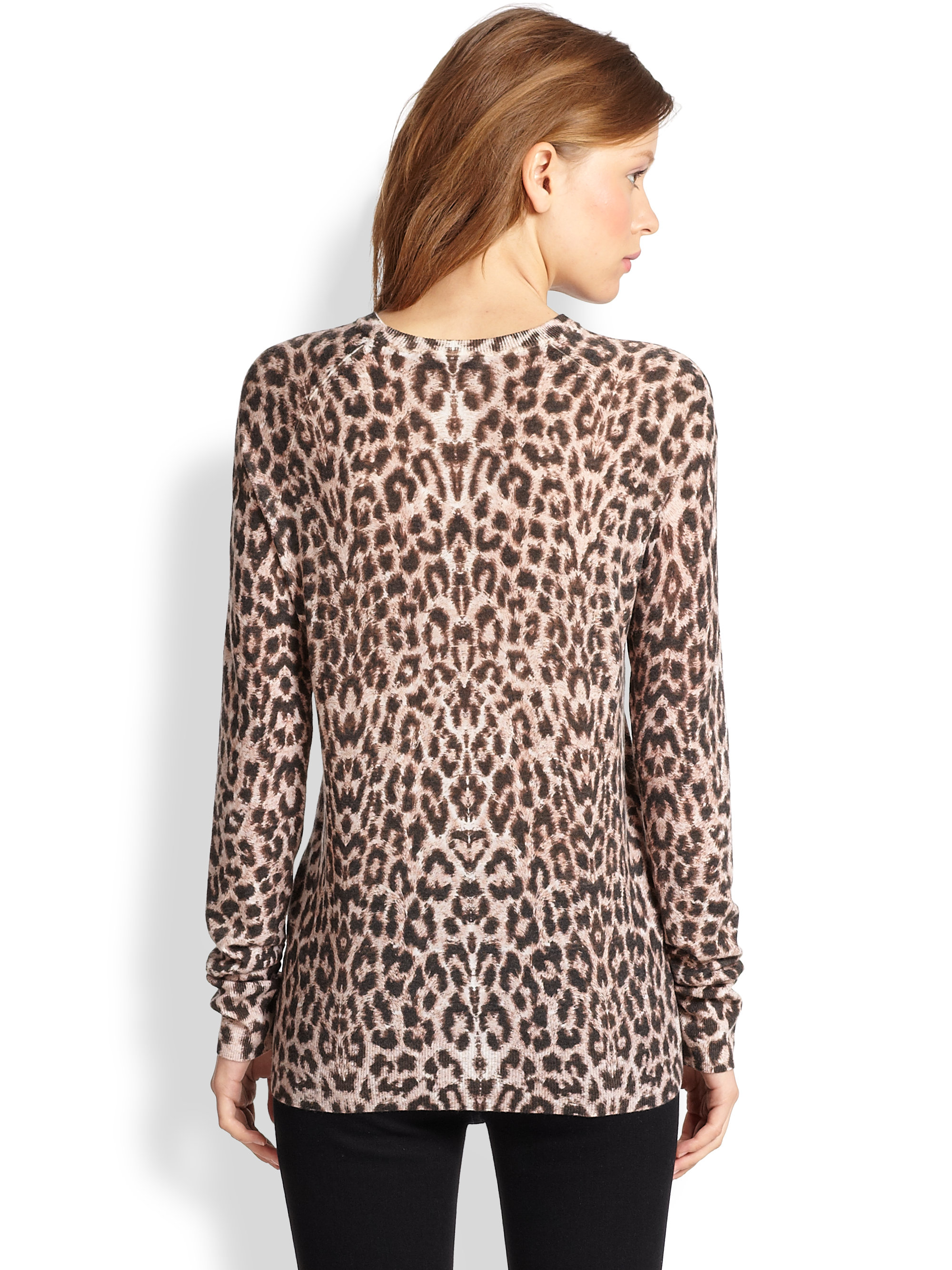 Equipment Sloane Leopard-Print Wool & Cashmere Sweater | Lyst
