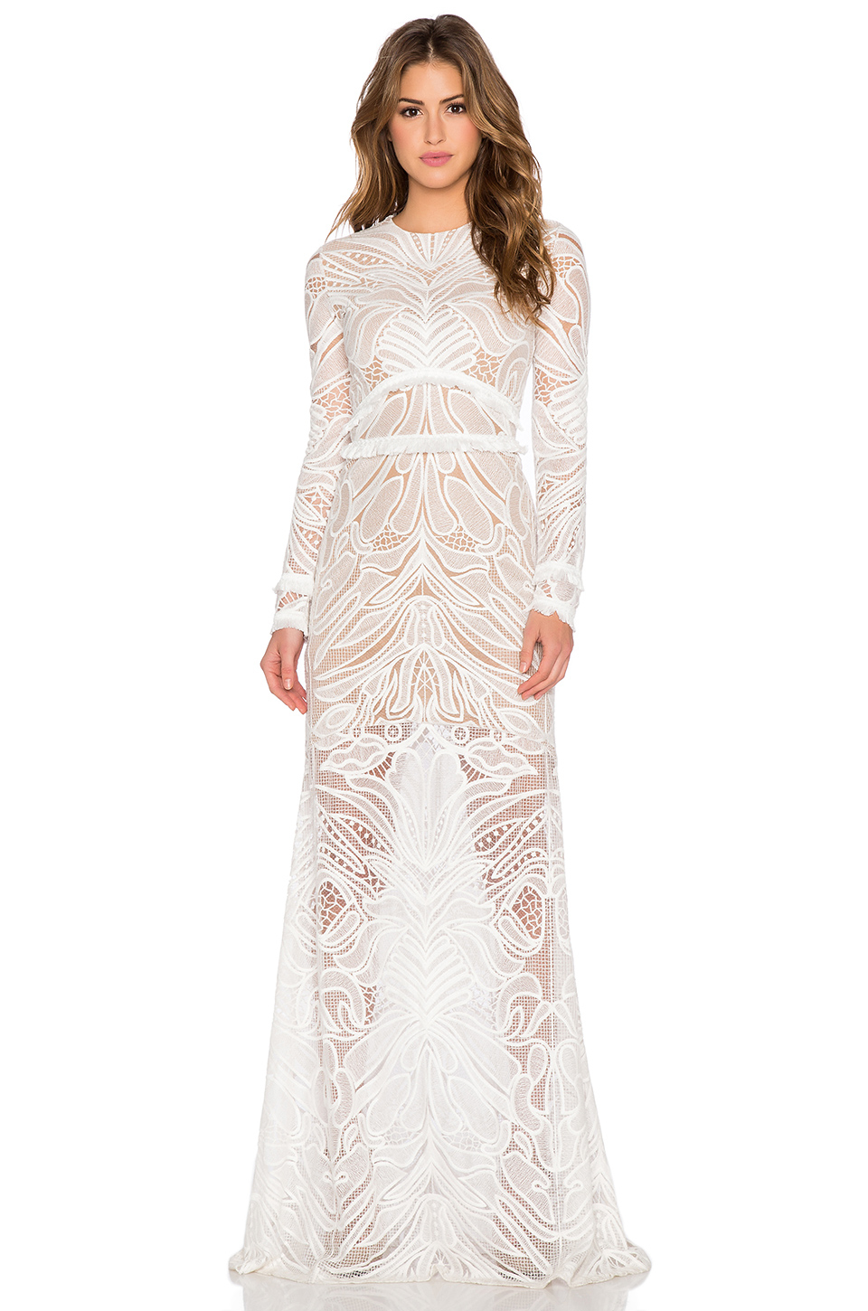 Alexis Vice Lace Maxi Dress in White | Lyst