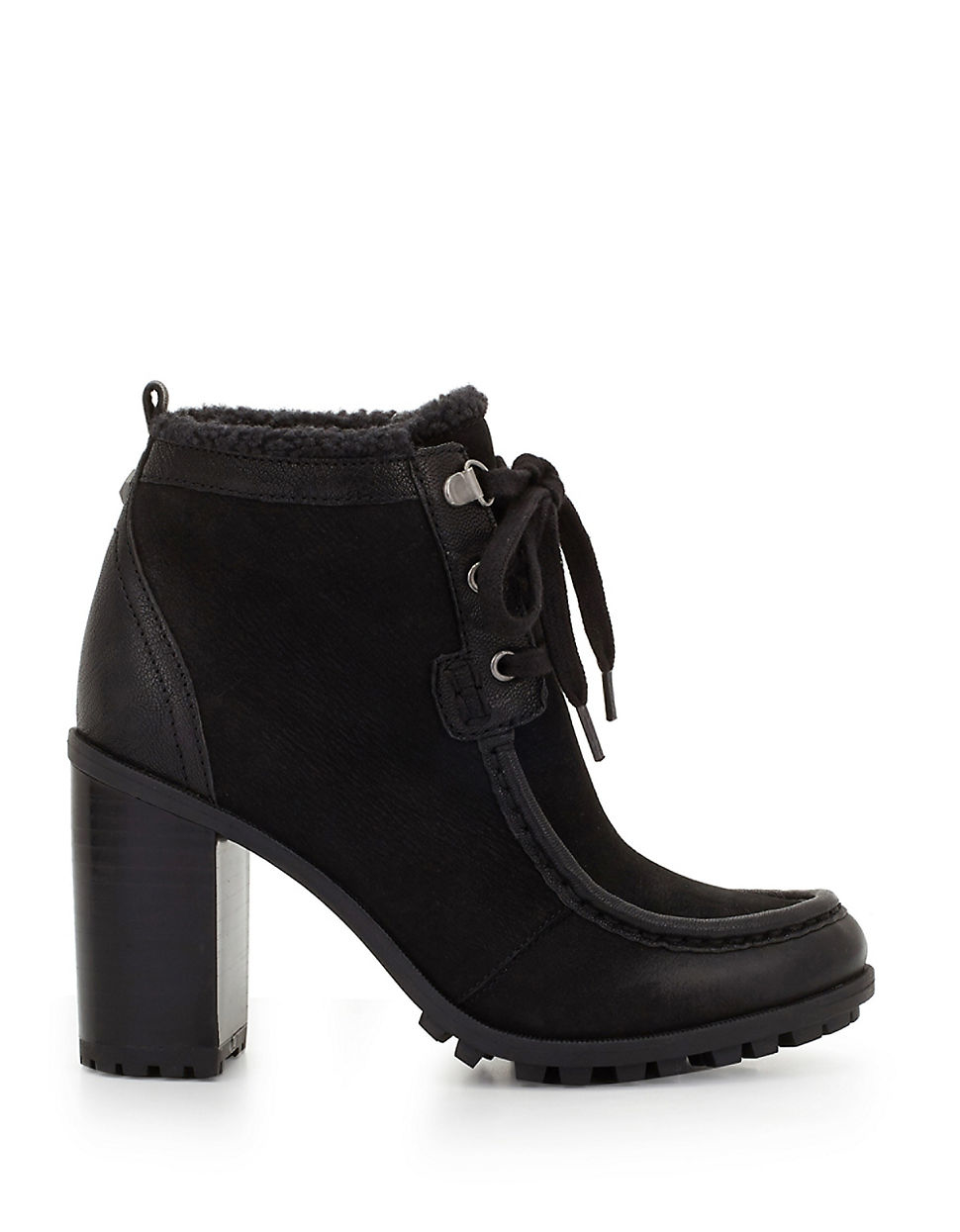 50a240d558e482 Lyst - Sam Edelman Madge Sherpa-lined Ankle Boots in Black