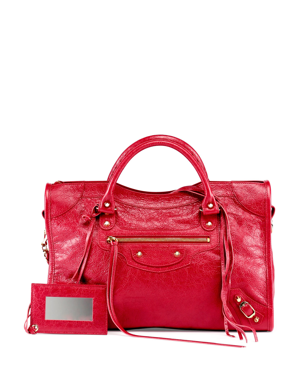 Balenciaga Lambskin Shoes Red