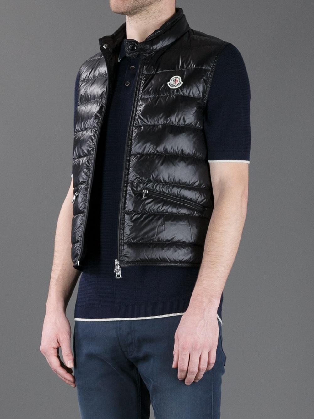 Moncler 'gui' Padded Gilet in Black for Men | Lyst