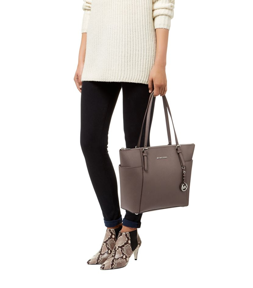 e54c5aca890a11 michael kors large jet set signature top zip tote how old is bags ...