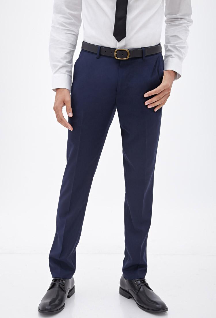 dress blue pants - Pi Pants