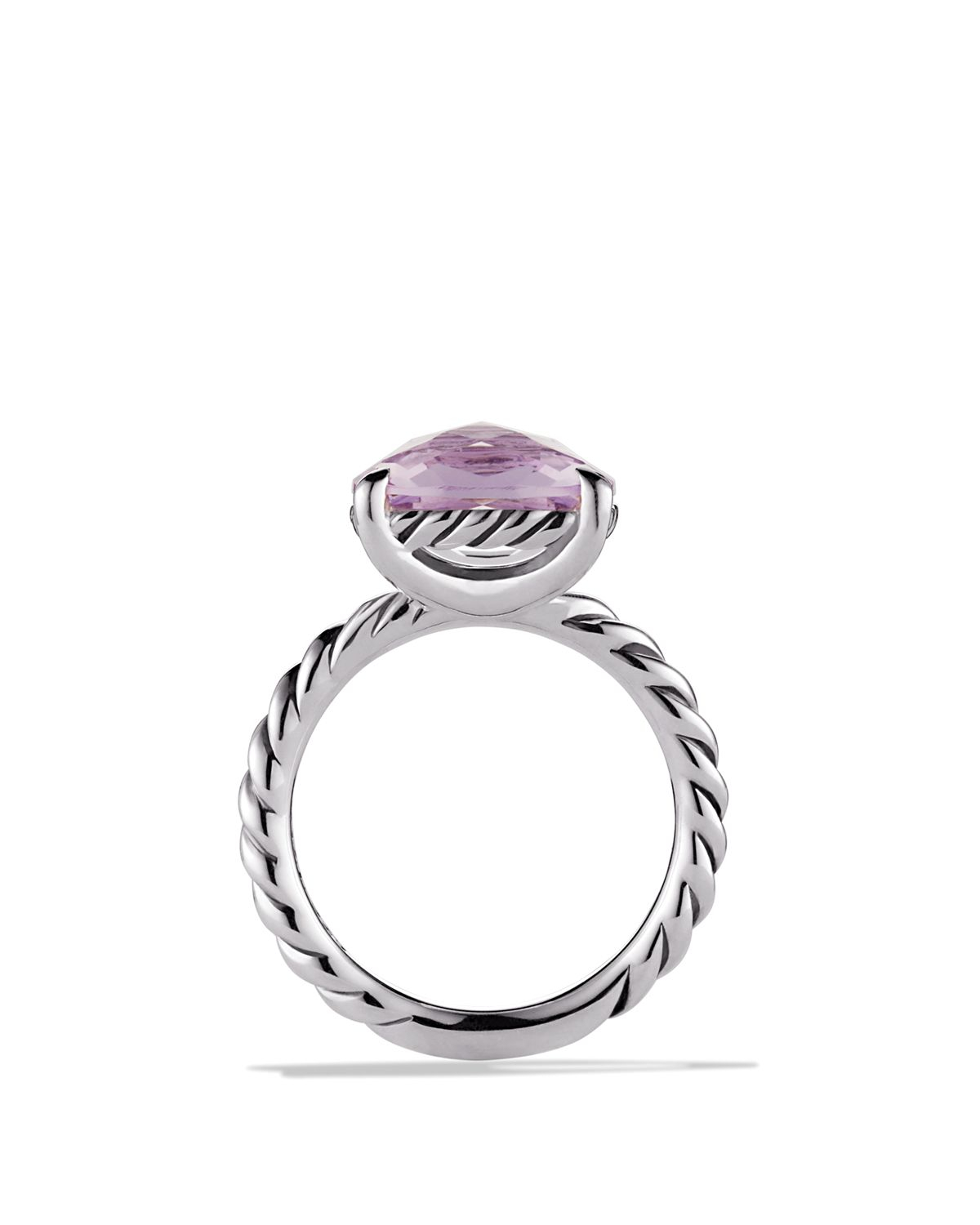 Lyst david yurman color classics ring with lavender for David yurman inspired jewelry rings