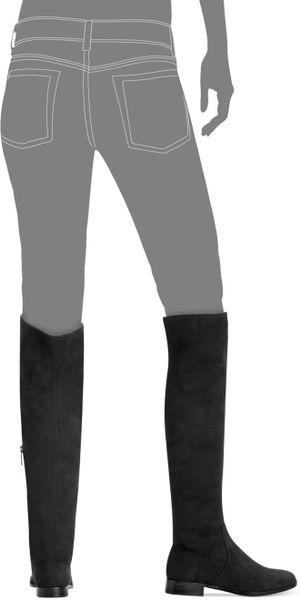 Calvin Klein Rae Overtheknee Boots In Black Black Stretch