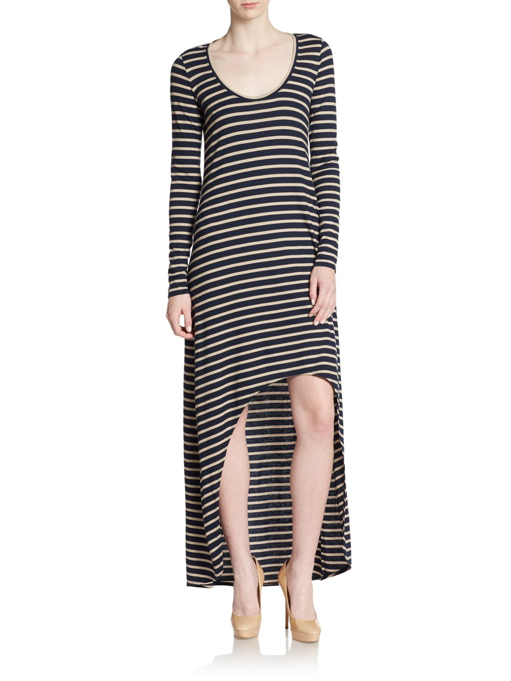 03df17d548aa Lyst - BCBGMAXAZRIA Arianna Striped Hi-lo Dress in Blue