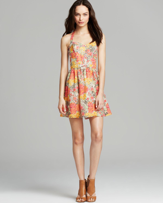 guess baja flower dress