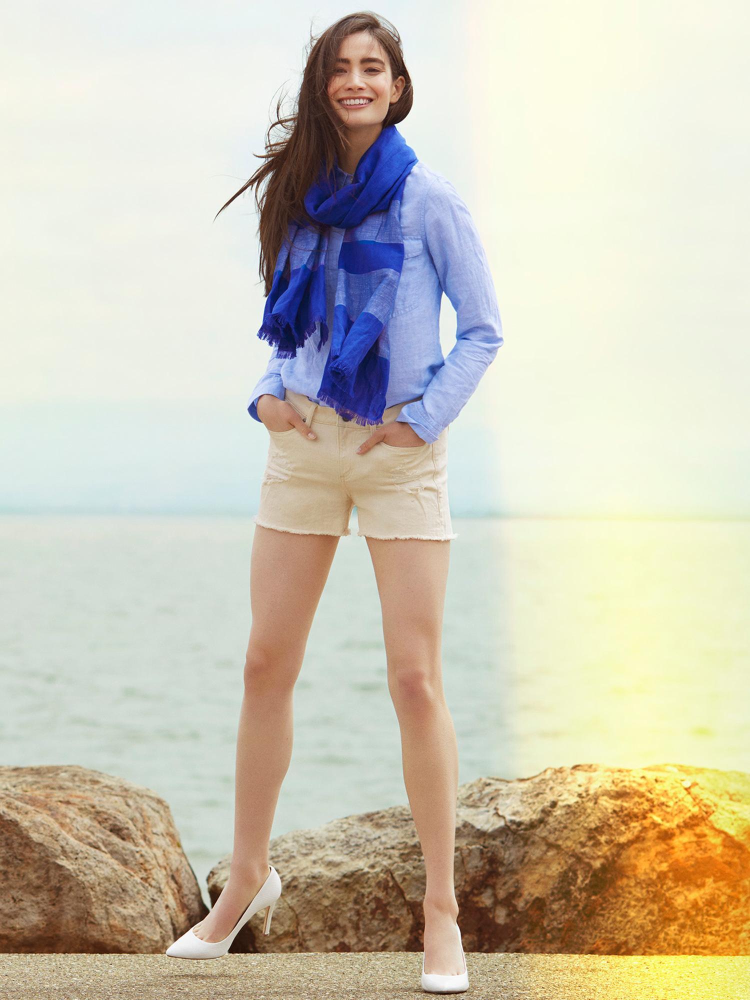 3e77597e978 Lyst - Banana Republic Soft-wash Linen Cotton Shirt in Blue