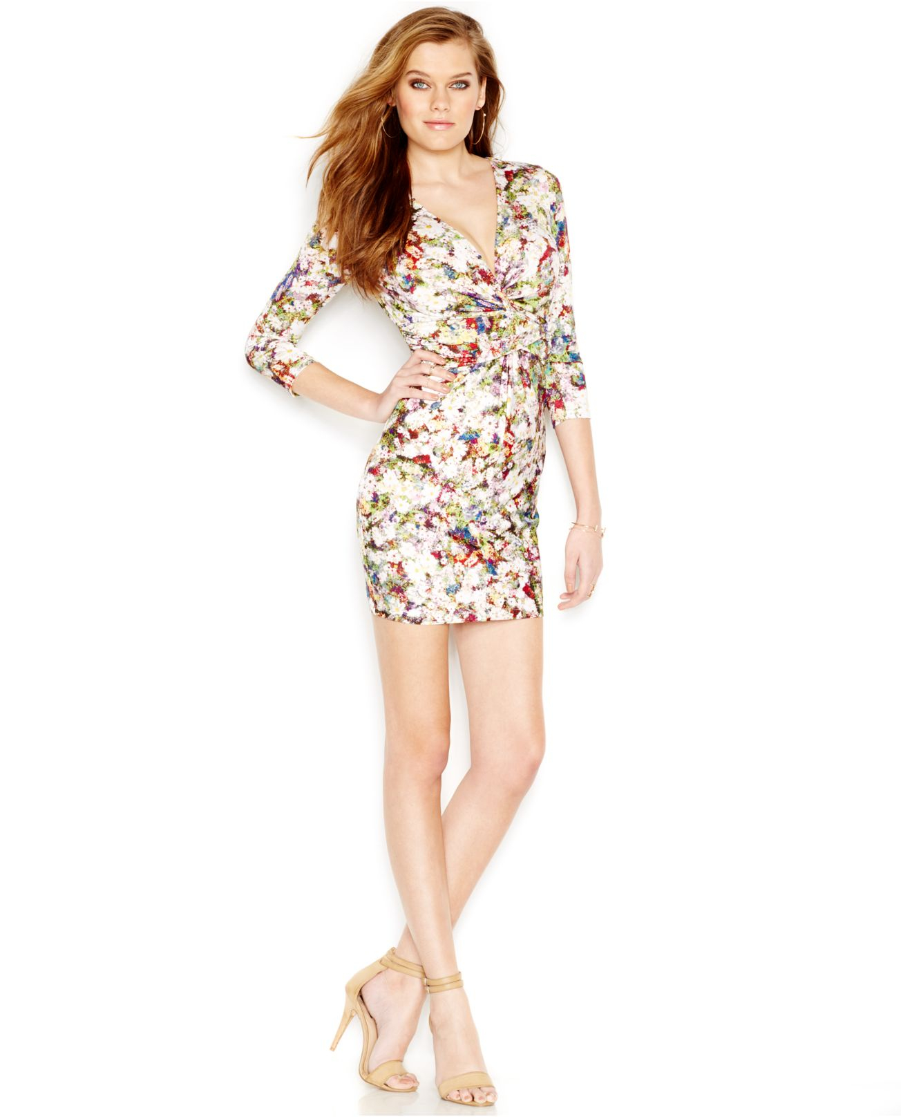 Guess floral dress macys for Guess dresses for wedding