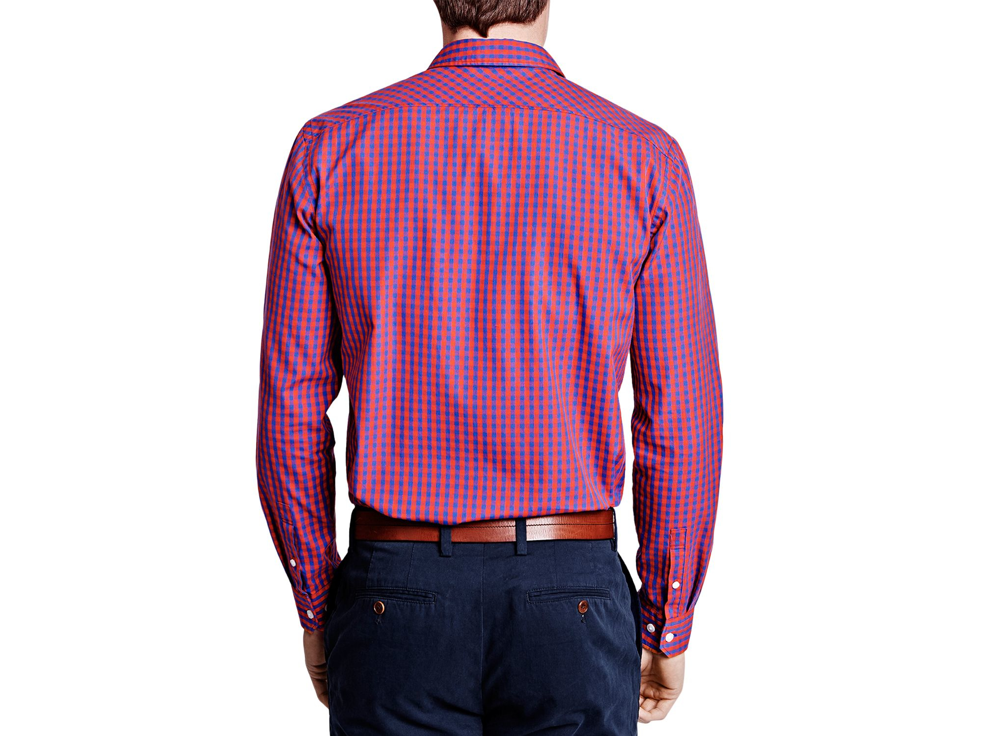 ac43137d Thomas Pink Evenson Check Slim Fit Button Down Shirt in Purple for ...