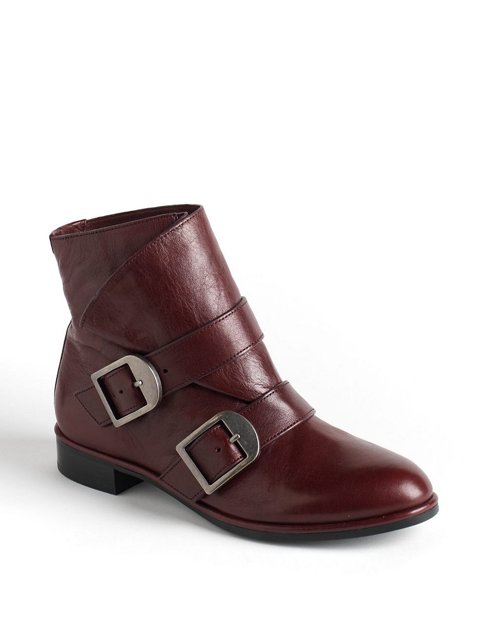 via spiga inali leather ankle boots in brown lyst