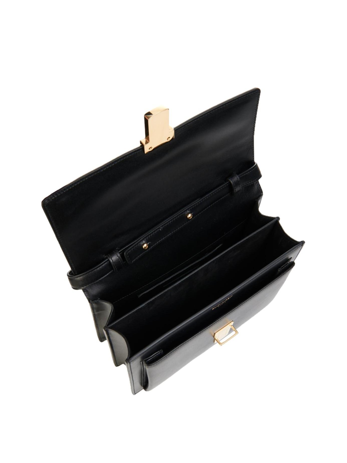 yves saint laurent bags online - Saint laurent High School Medium Leather Shoulder Bag in Black | Lyst