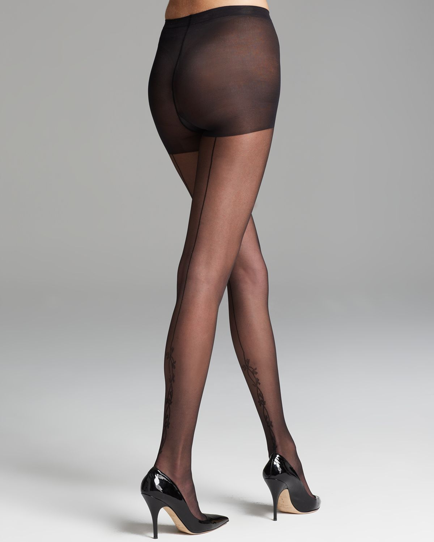 Black seamed stockings and pantyhose