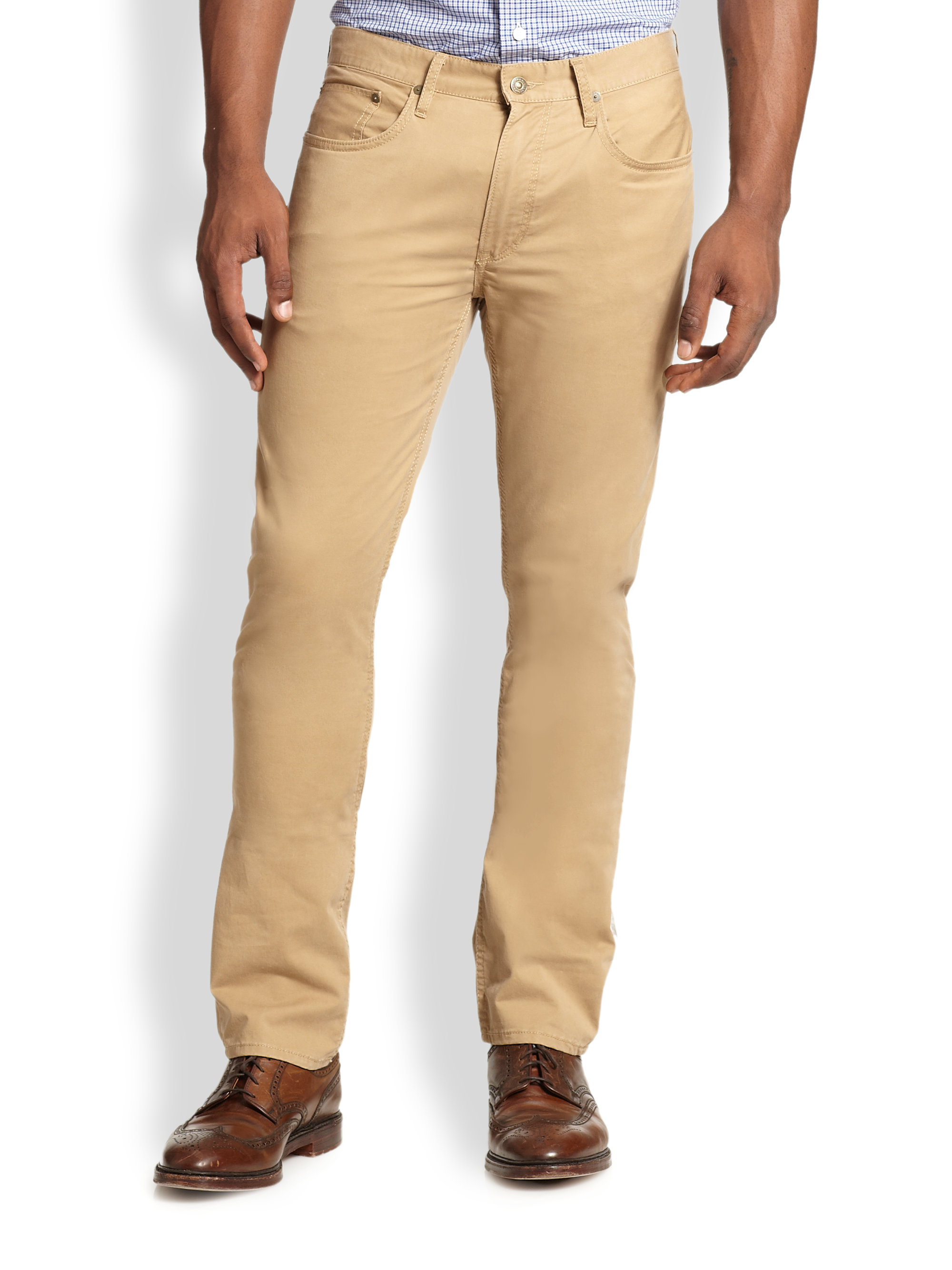 Natural And Freely Slim Fit Stretch Chinos in Beige - Classic khaki Polo Ralph Lauren Best Wholesale For Sale 1HrAyG