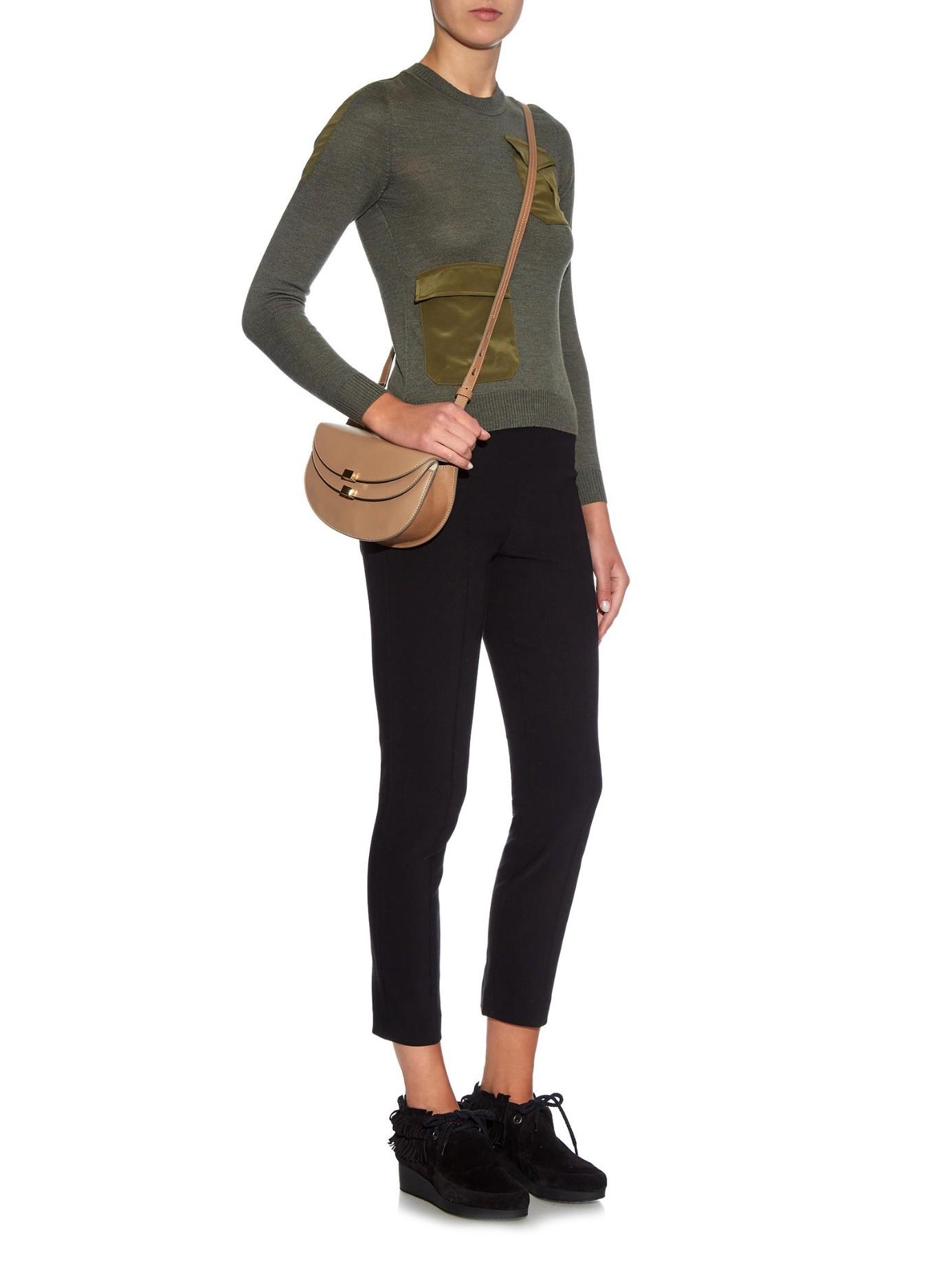 purses chloe - Chlo�� Georgia Mini Leather Cross-Body Bag in Brown (DARK BEIGE) | Lyst