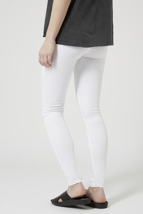 Topshop Tall Moto White Leigh Jeans in White | Lyst