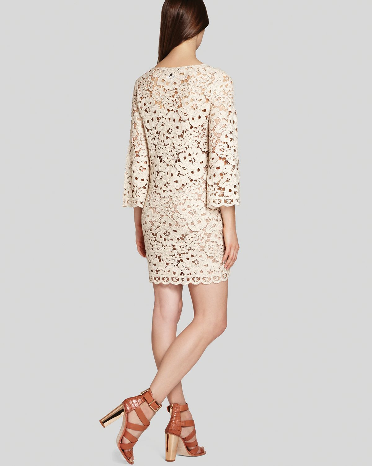 1d2e5cd11f9 Lyst - BCBGMAXAZRIA Tunic Dress Tianya Crochet in Natural