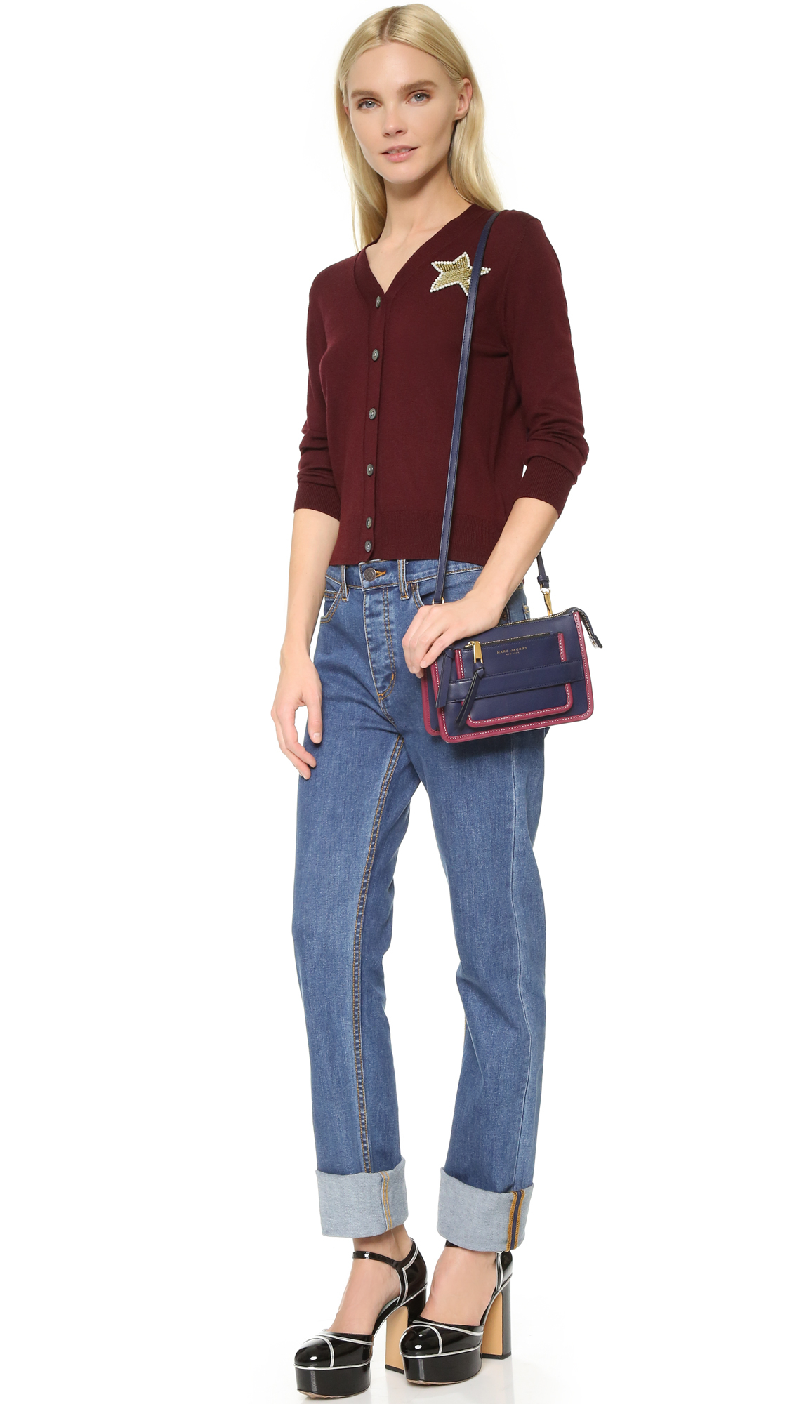 ce1223e32f0d Lyst - Marc Jacobs Madison Cross Body Bag in Blue