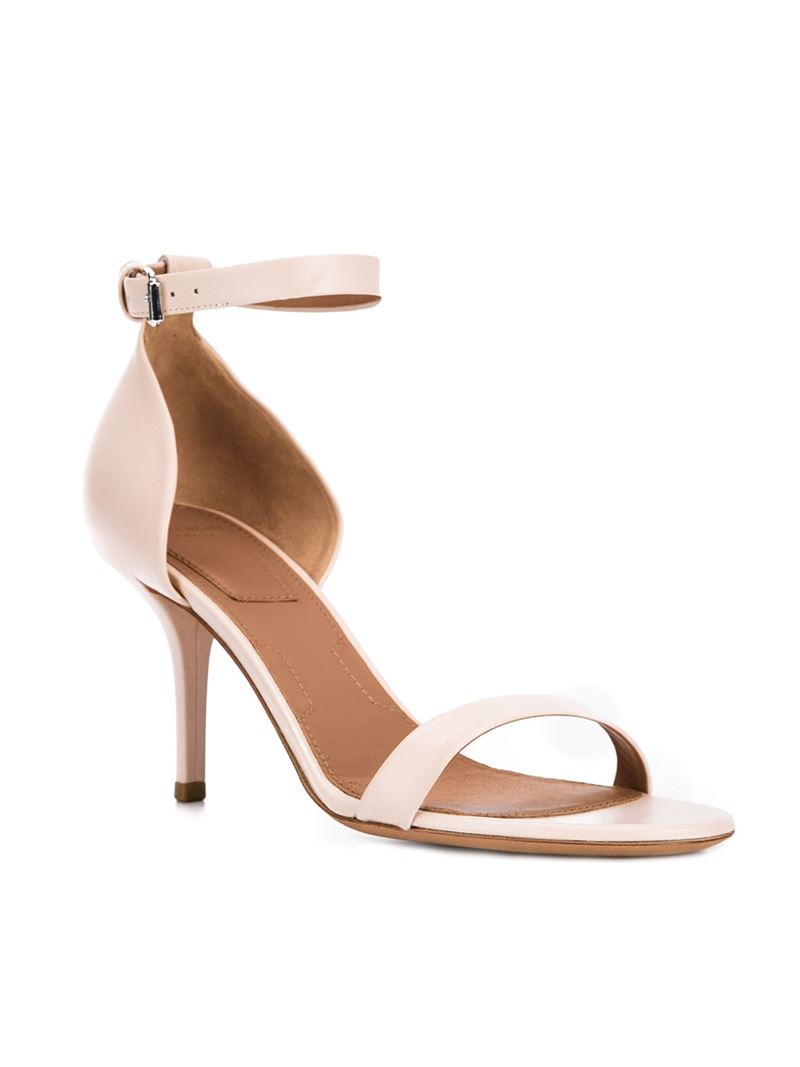 514e1e76ffe Lyst - Givenchy Heeled Leather Sandals in Natural