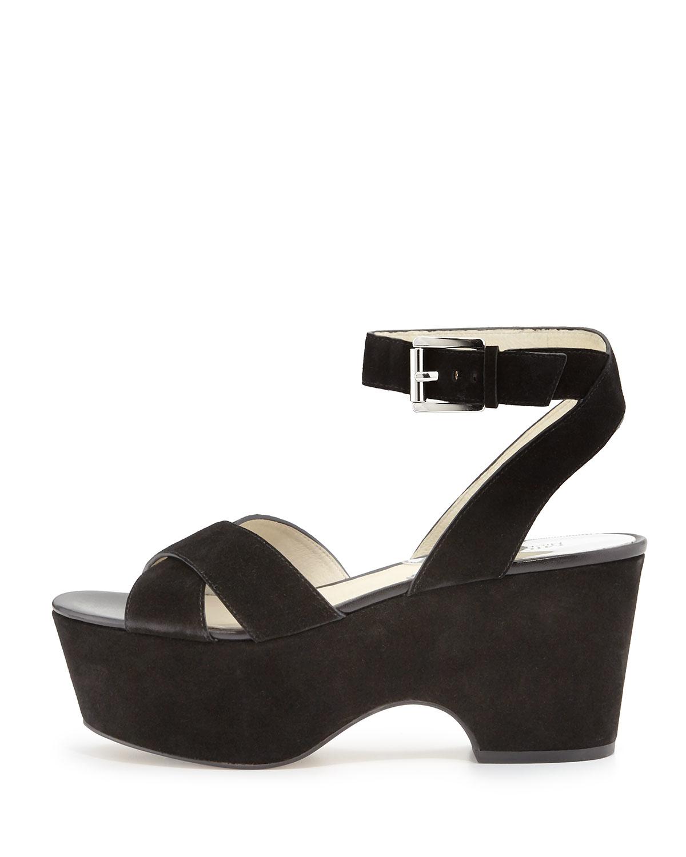 908699cc9e8 Lyst - MICHAEL Michael Kors Ariel Suede Platform Sandals in Black