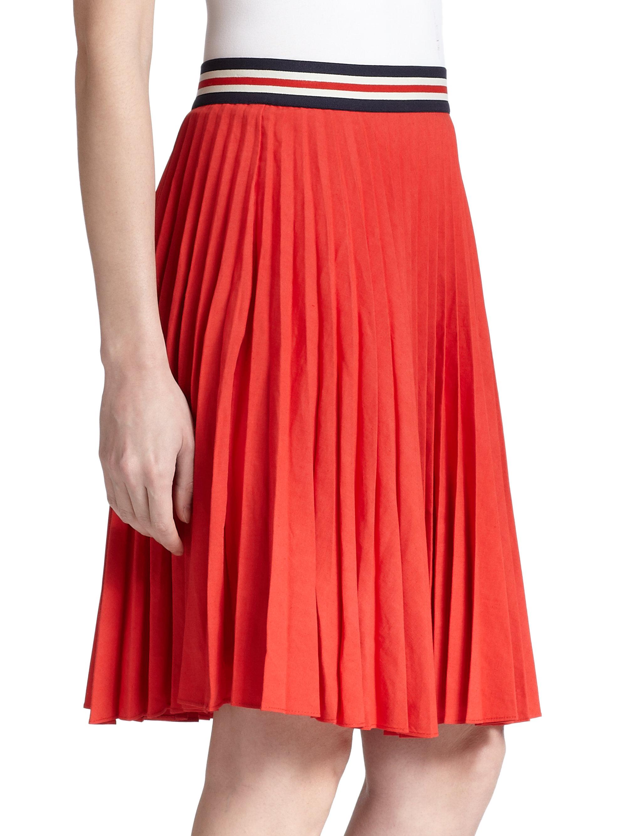 theory zeya pleated skirt in lyst