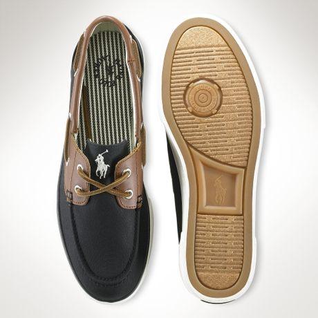 Polo Ralph Lauren Rylander Canvas Boat Shoe in Black for Men (black
