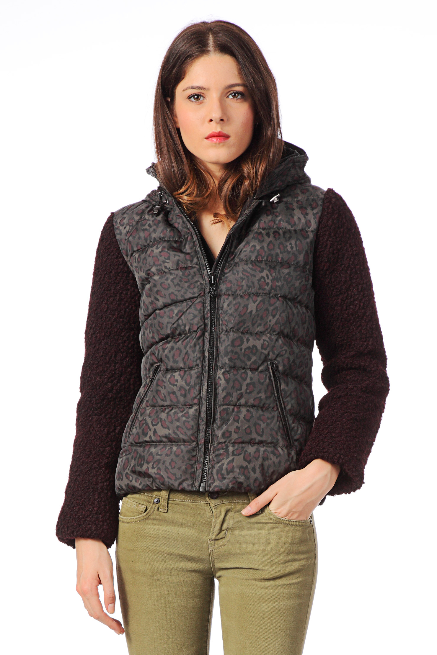 maison scotch quilted jacket in gray lyst. Black Bedroom Furniture Sets. Home Design Ideas