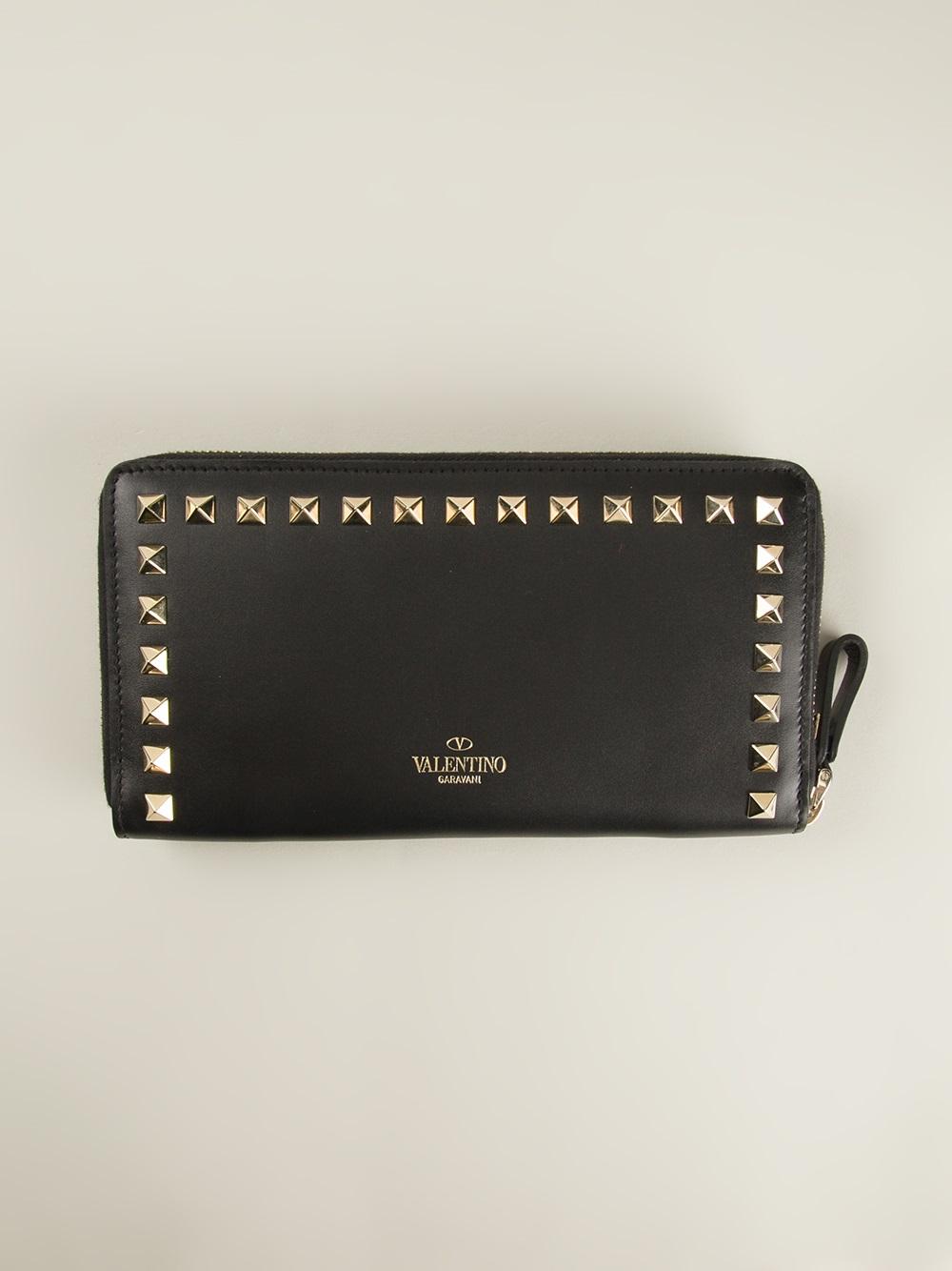 Valentino Garavani 'rockstud' Wallet in Black | Lyst
