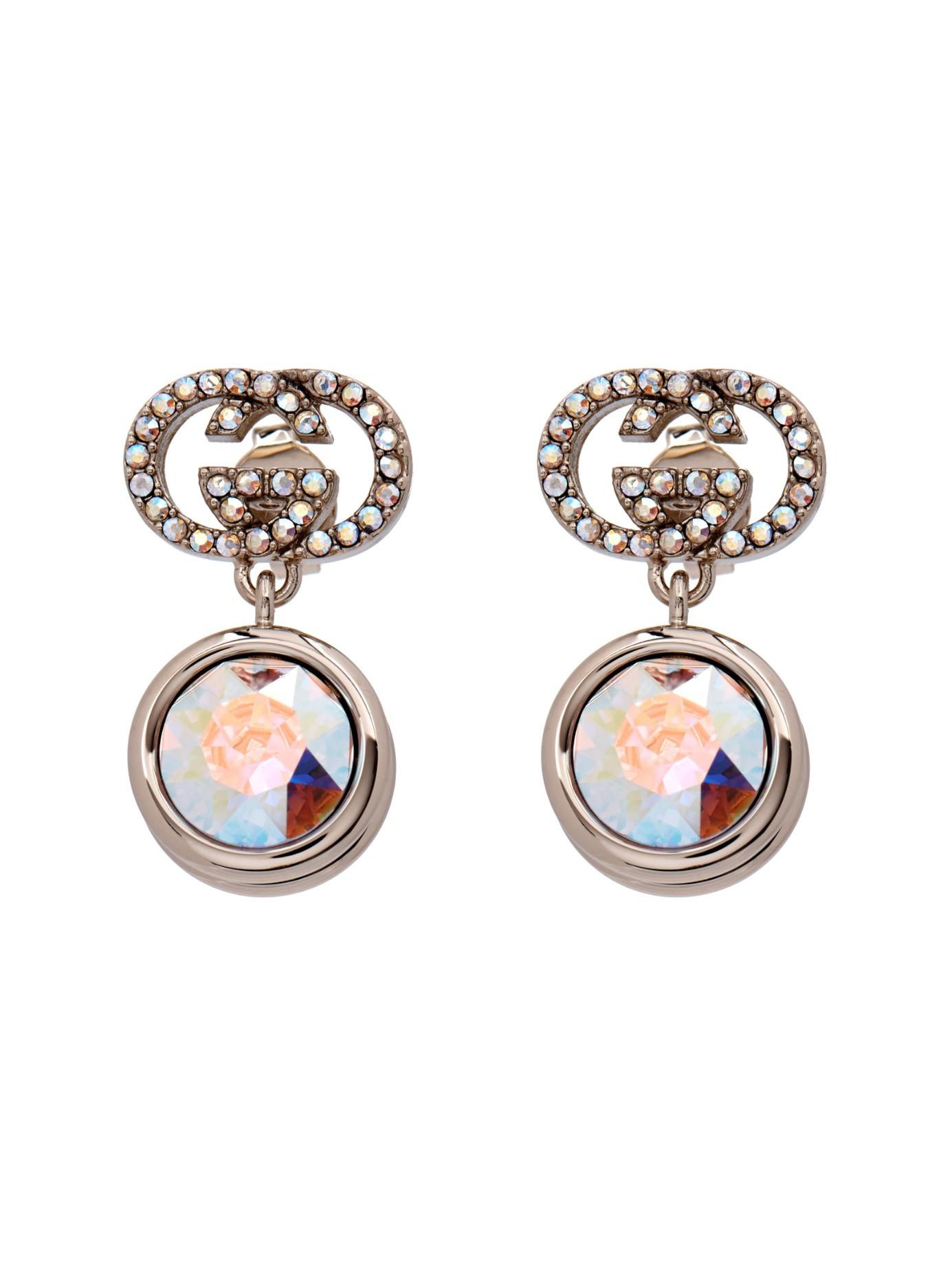 Gucci Crystal embellished hoop earrings HcqQXnjp