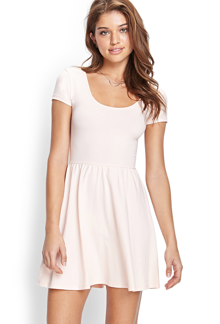 Lyst - Forever 21 Cutout Fit & Flare Dress in Pink