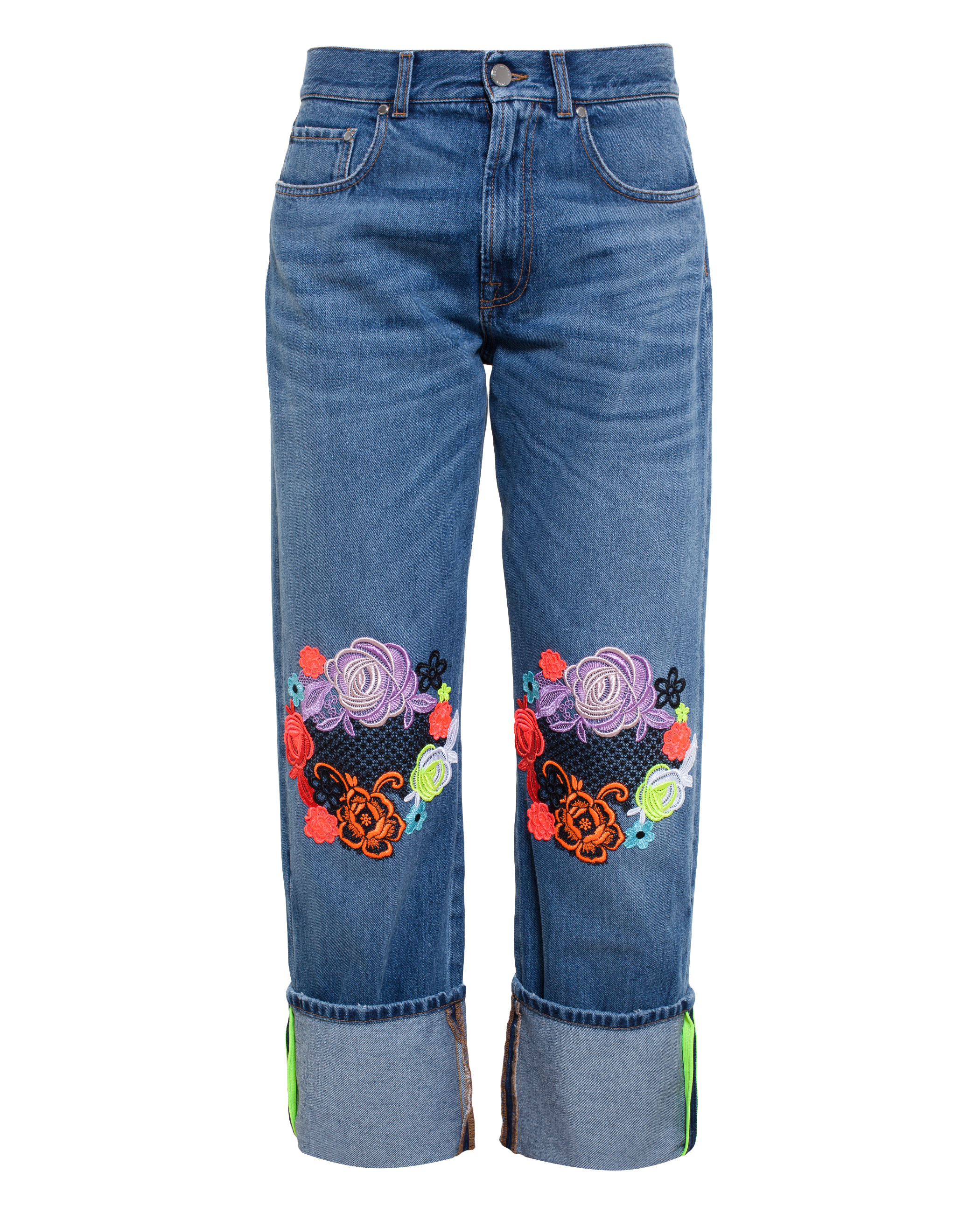 Christopher kane lace embroidered jeans in blue save