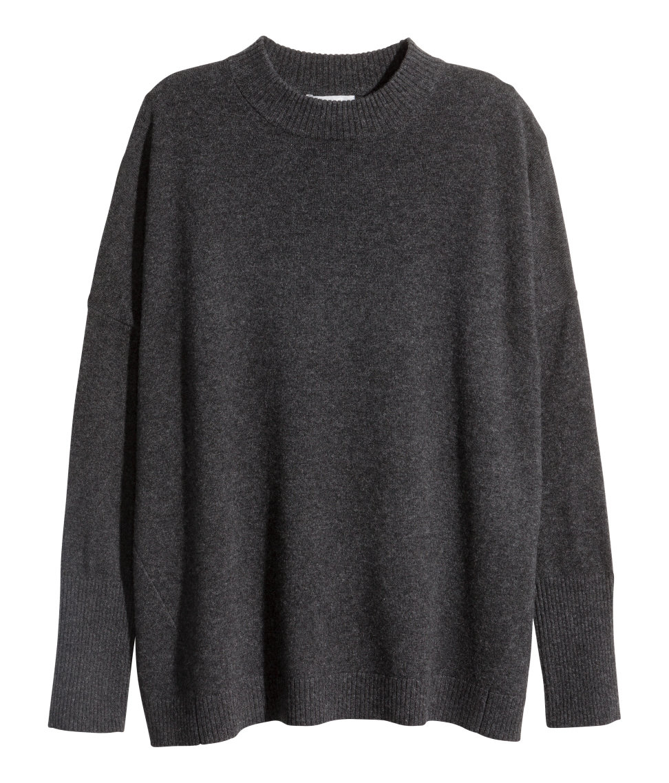 H&m Cashmere Jumper in Gray | Lyst